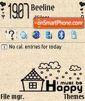 I Must Happy theme screenshot