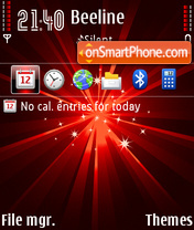 Ray Red theme screenshot