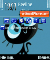 Sweet cat 02 theme screenshot