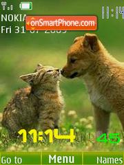 Swf cats 12 wallpaper clock theme screenshot