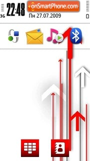 Arrows tema screenshot