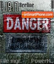 Danger 06 es el tema de pantalla
