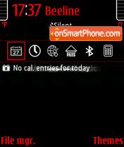 Black and Red 01 theme screenshot