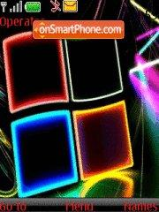 Capture d'écran Neon Windows thème