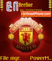 Скриншот темы Manchester United