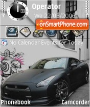 Nissan Gtr black theme screenshot