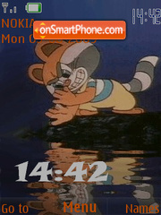 Скриншот темы Swf racoon animated