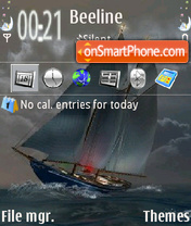 Grey Boat theme screenshot