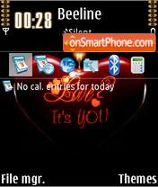 Love Its You theme screenshot