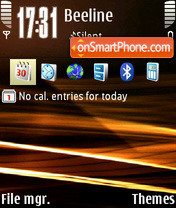 Abstract retroman theme screenshot