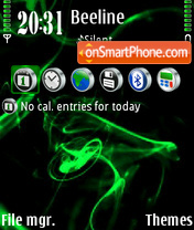 Green abstrakt 01 theme screenshot