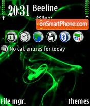 Green abstrakt 01 es el tema de pantalla