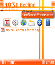 Orange Touch theme screenshot
