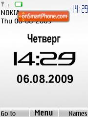 Swf white Nokia clock theme screenshot