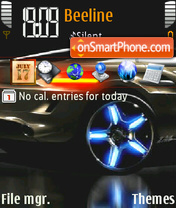 Neon Car 01 theme screenshot