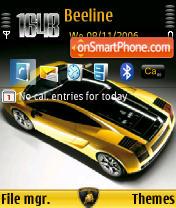 Скриншот темы Lamborghini Gallardo SE