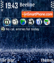 Rain 01 tema screenshot