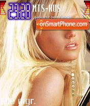 Britney Spears 11 theme screenshot