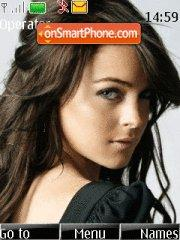 Lindsay Lohan 10 theme screenshot