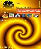 Golden Swirl theme screenshot