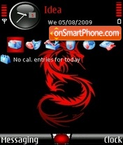 Dragon Red theme screenshot