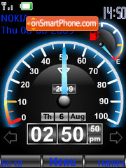 Speed Swf Clock tema screenshot
