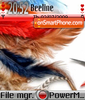 Feather 01 es el tema de pantalla