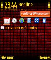 Red Cube 01 theme screenshot