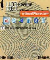 Скриншот темы Impronte