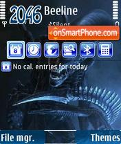 Alien queen theme screenshot