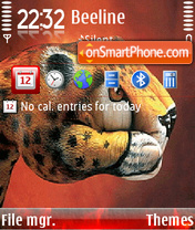 Leopard Hand theme screenshot