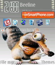 Vista scrat Ice age theme screenshot