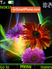 Скриншот темы SWF beautiful flowers slide V.2