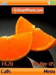 Orange tema screenshot