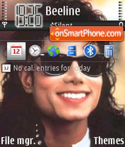 Michael Jackson 11 theme screenshot