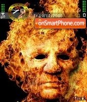 Скриншот темы Fire Face