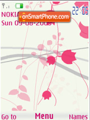 Abstract flowers flash anim theme screenshot