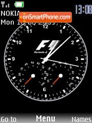 Formula1 Clock theme screenshot