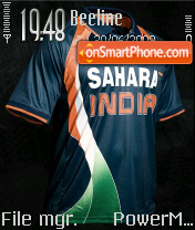 Team India Jersey theme screenshot