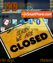 Sorry We Are Closed theme screenshot