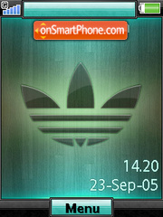 Adidas Shake It+Mmedia theme screenshot
