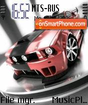 Mustang Gt Red Ed theme screenshot