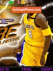 Lakers Kobe 8 tema screenshot