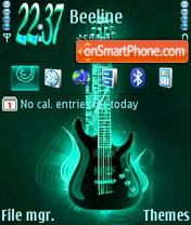 Green Guitar 01 theme screenshot