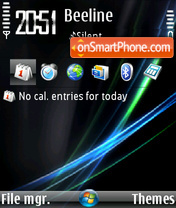 Скриншот темы Vista (Flahorn)