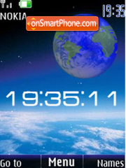 Скриншот темы SWF 3d earth clock animated