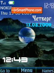 Swf space animated Fl1.1 theme screenshot