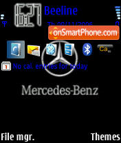 Mercedes Logo theme screenshot