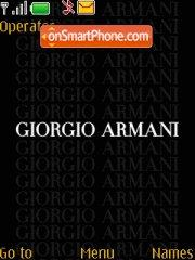 Giorgio Armani 01 theme screenshot