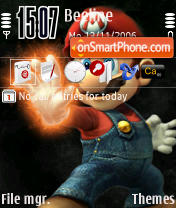 Скриншот темы Super Mario Mario